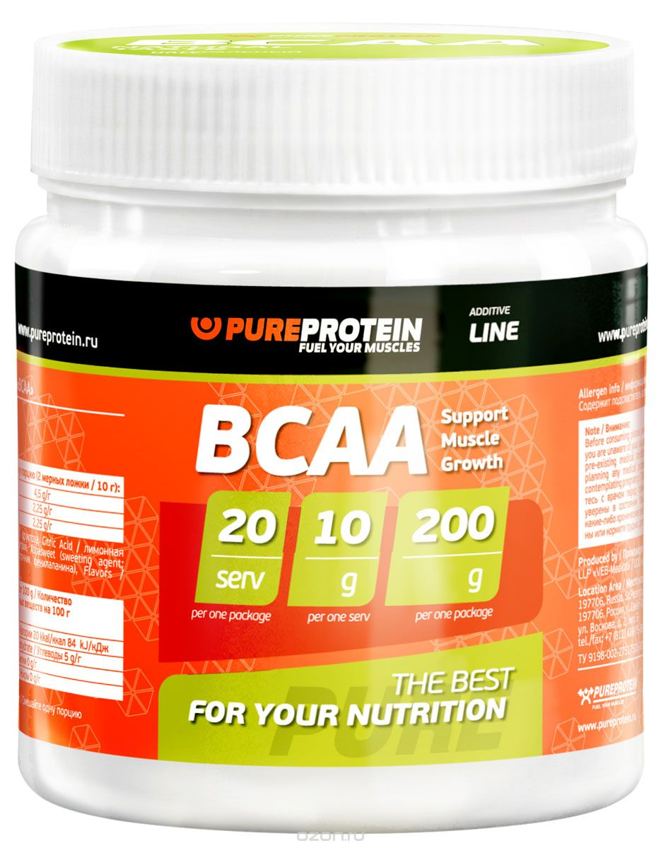 "BCAA PureProtein ""Additive Line"", апельсин, 200 г"