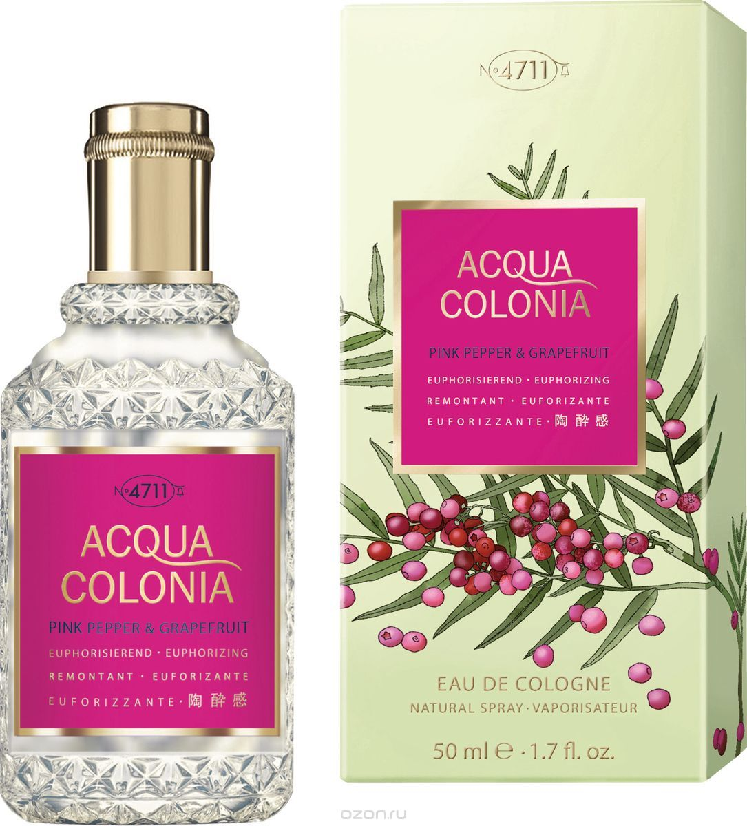 4711 Acqua Colonia Euphorizing Pink Pepper & Grapefruit Одеколон, 50 мл